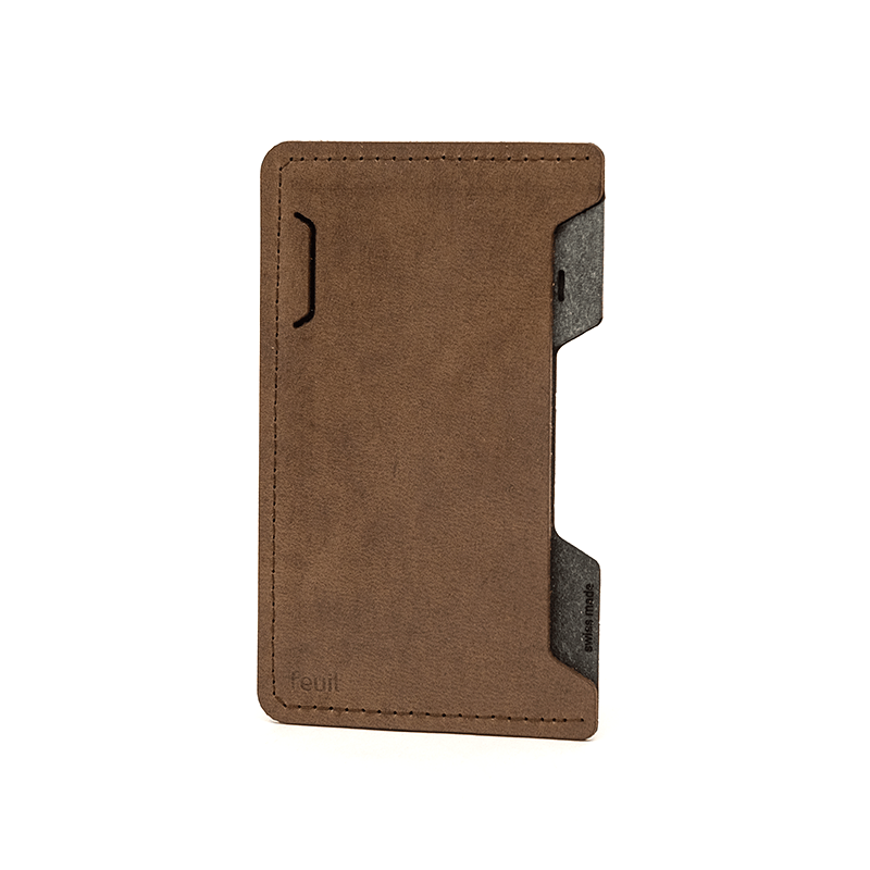 Smartphone Etui | SLICE LEATHER | Piombo-feuil accessories