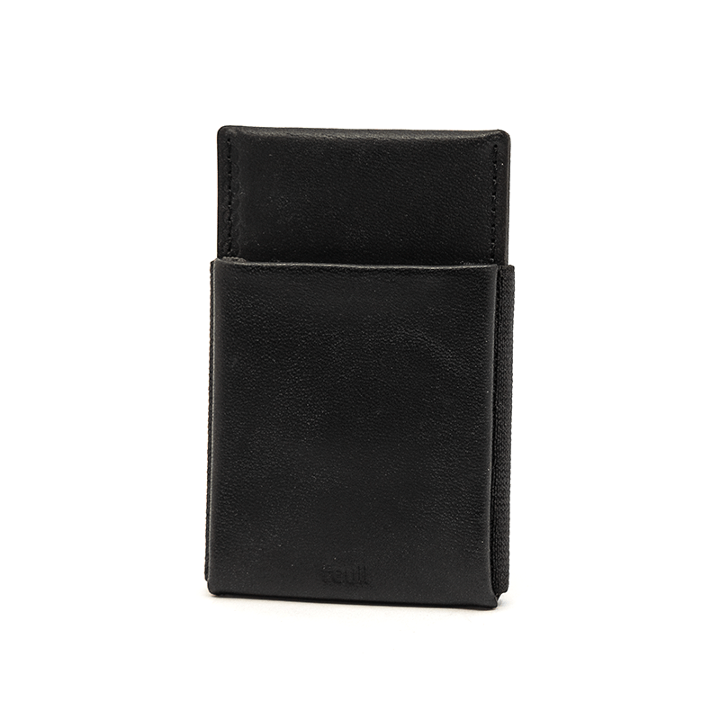 Wallet Leather | Nero | front - feuil wallets | accessories