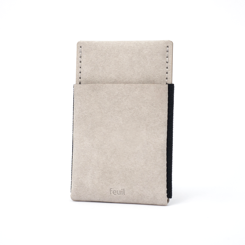 Wallet | Stone grey | Front - feuil wallets | accessories