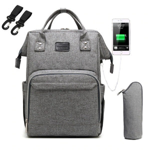 USB Charger Diaper Backpack