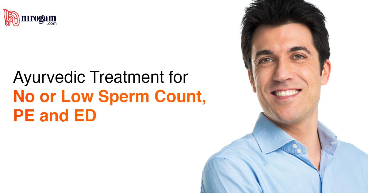 Natural and Ayurvedic Treatment for No or Low Sperm Count, Premature Ejaculation or Erectile Dysfunction