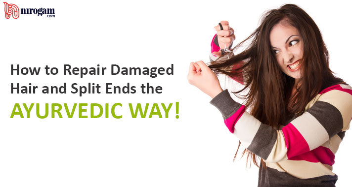 How to Repair Damaged Hair and Split Ends the Ayurvedic Way!