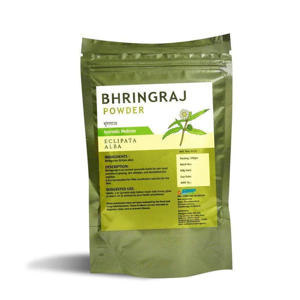 Bhringraj Powder for Alopecia, Hepatitis, Skin Tissue - 100 Gms