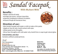 Sandalwood Multani Mitti Face Pack 100 gms - Pack of 2 - Nirogam