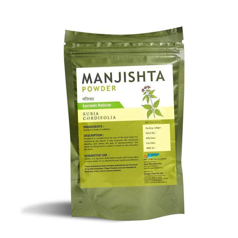 Manjishta Powder - 100 Grams - Nirogam