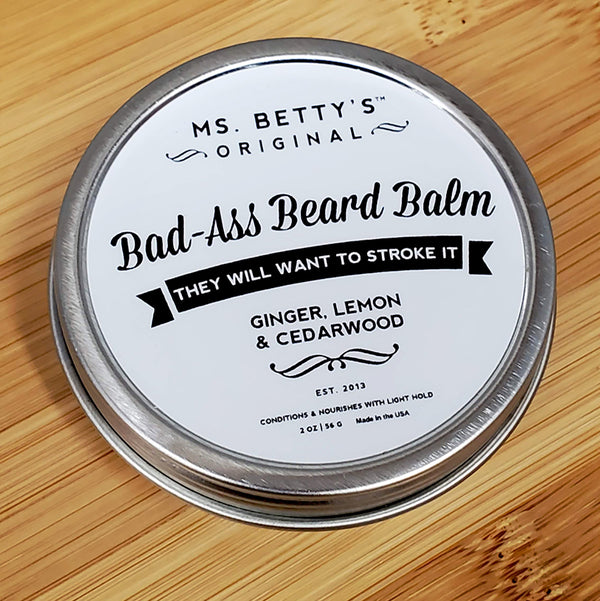 Bad Ass Beard Balm - Ginger, Lemon and Cedarwood - Ms. Betty's Original