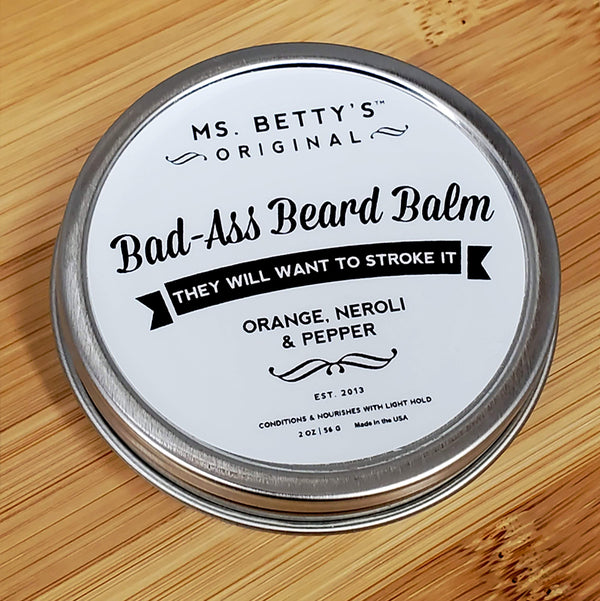 Bad Ass Beard Balm - Orange, Neroli and Pepper - Ms. Betty's Original