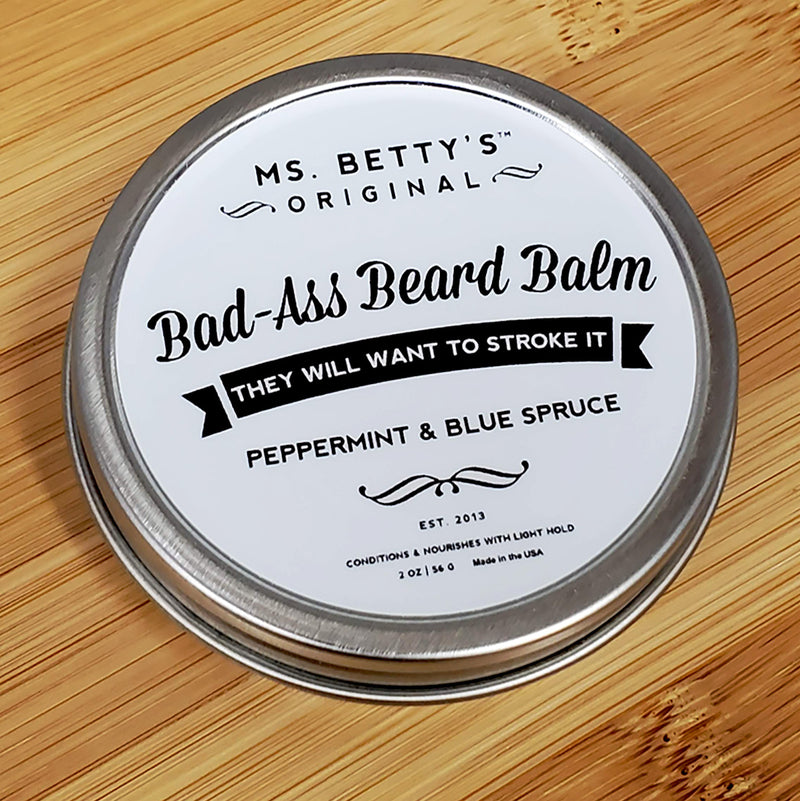 Bad Ass Beard Balm - Peppermint and Blue Spruce - Ms. Betty's Original
