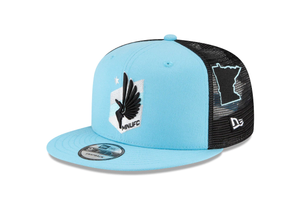 Minnesota United FC New Era Scatter 9FIFTY Snapback Hat – Blue