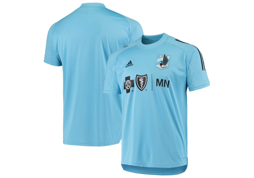 Minnesota UnitedM Adidas Training Jersey SS 2020Light Blue