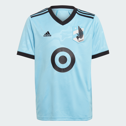 MNU Y8 Youth SS Replica Jersey Light Blue