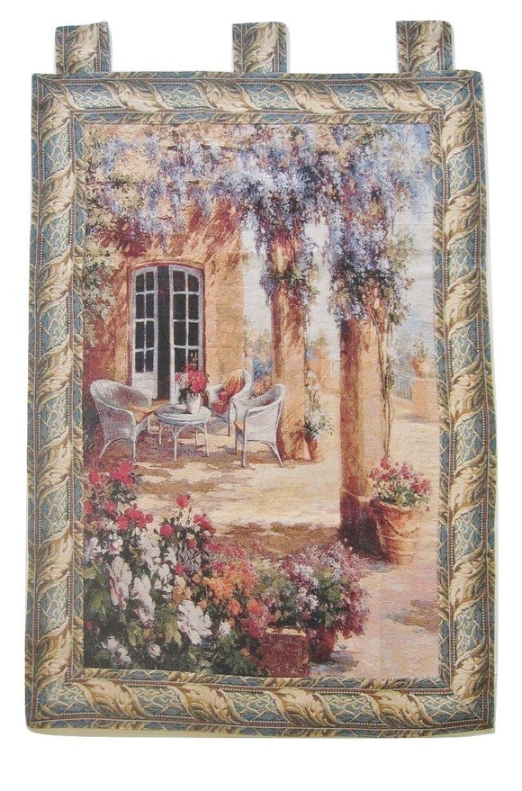 Quiet Evening Elegant Woven Fabric Baroque Tapestry Wall Hanging - 36