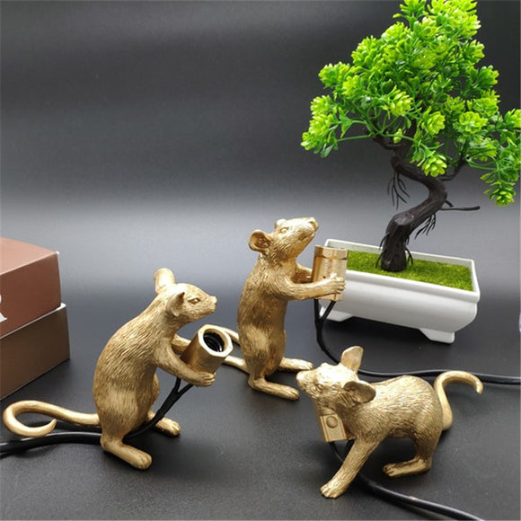 Postmodern Resin Mouse Table Lamp | Mini Mouse Cute LED Night Lights