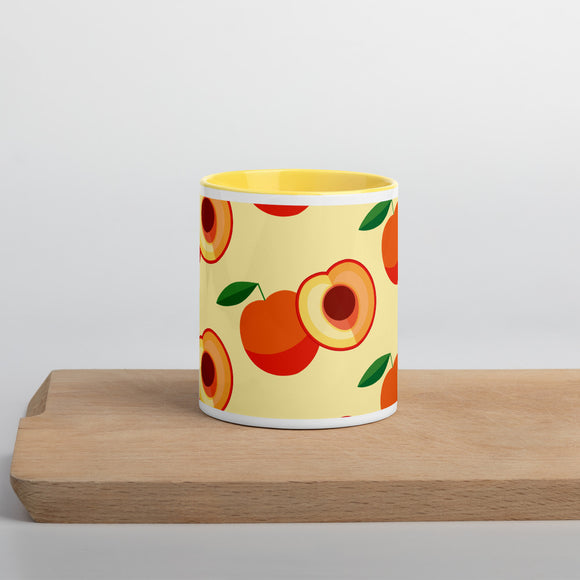 PANZERA™ Signature Line | Fun Fruit Line Peach | Mug with Color Inside | Yellow Sun