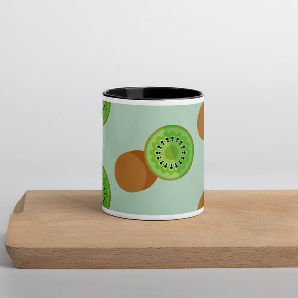 PANZERA™ Signature Line | Fun Fruit Line Kiwi | Mug with Color Inside | Sea Green