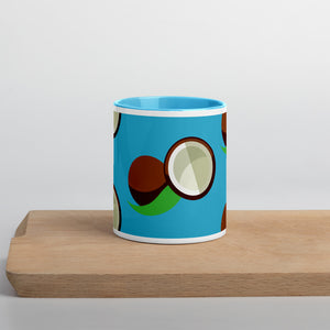 PANZERA™ Signature Line | Fun Fruit Line Coconut | Mug with Color Inside | Blue Sky