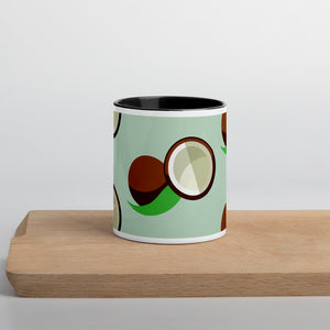 PANZERA™ Signature Line | Fun Fruit Line Coconut | Mug with Color Inside | Sea Green