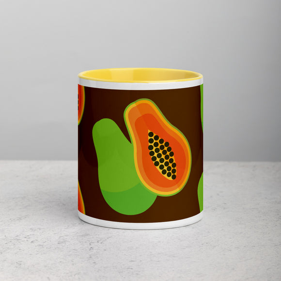 PANZERA™ Signature Line | Fun Fruit Line Papaya | Mug with Color Inside