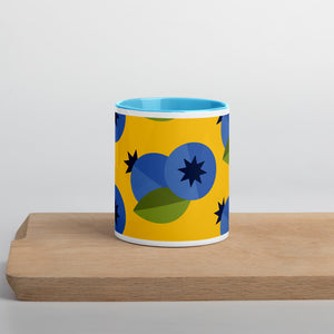 PANZERA™ Signature Line | Fun Fruit Line Blueberry | Mug with Color Inside | Blue Sky