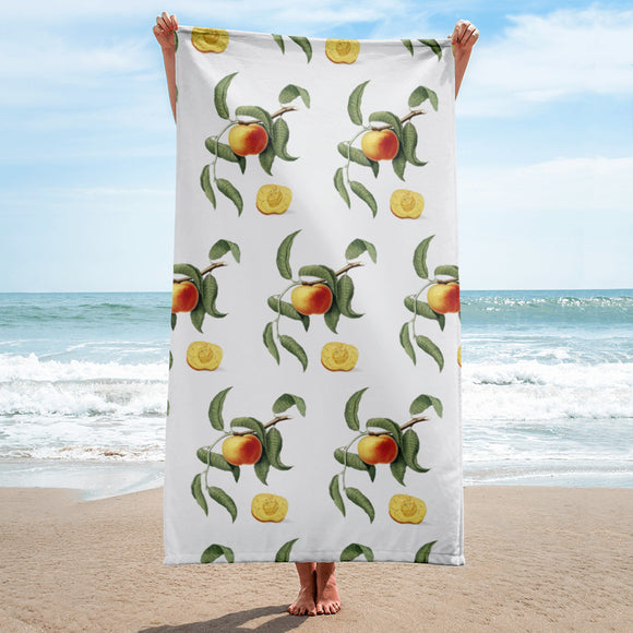 PANZERA™ Signature Line | Vintage Peach on Vine | Beach Towel