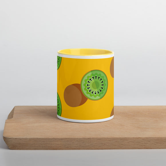 PANZERA™ Signature Line | Fun Fruit Line Kiwi | Mug with Color Inside | Yellow Sun