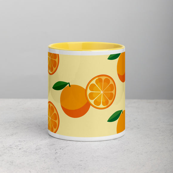 PANZERA™ Signature Line | Fun Fruit Line Orange | Mug with Color Inside | Yellow Sun