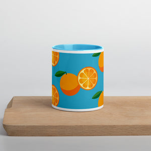 PANZERA™ Signature Line | Fun Fruit Line Orange | Mug with Color Inside | Blue Sky