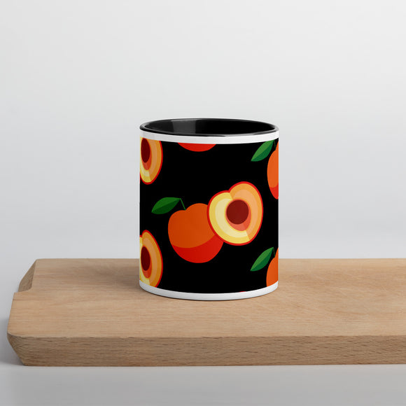 PANZERA™ Signature Line | Fun Fruit Line Peach | Mug with Color Inside | Black
