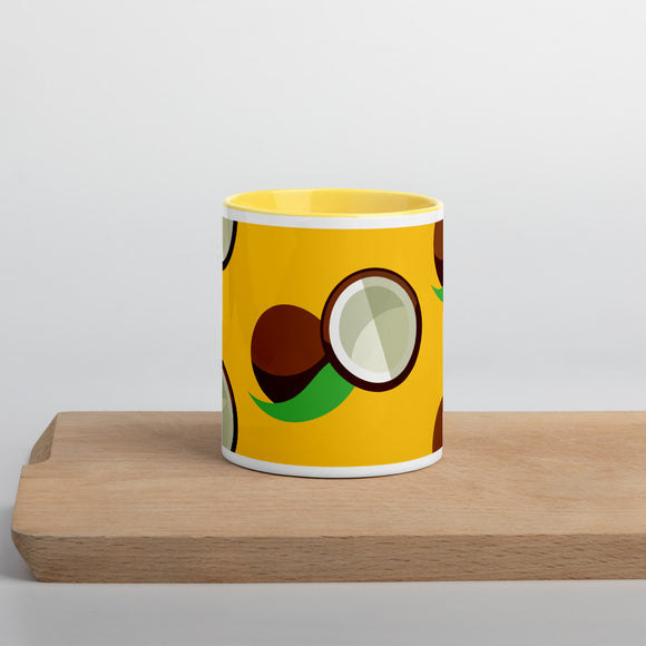 PANZERA™ Signature Line | Fun Fruit Line Coconut | Mug with Color Inside | Yellow Sun