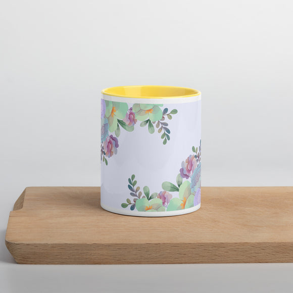 PANZERA™ Signature Line | Pastel Roses | Mug with Color Inside