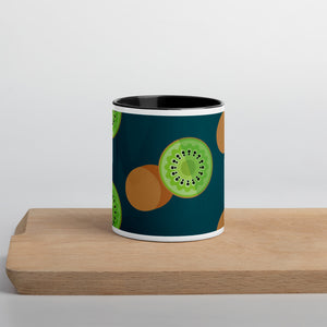 PANZERA™ Signature Line | Fun Fruit Line Kiwi | Mug with Color Inside | Dark Blue