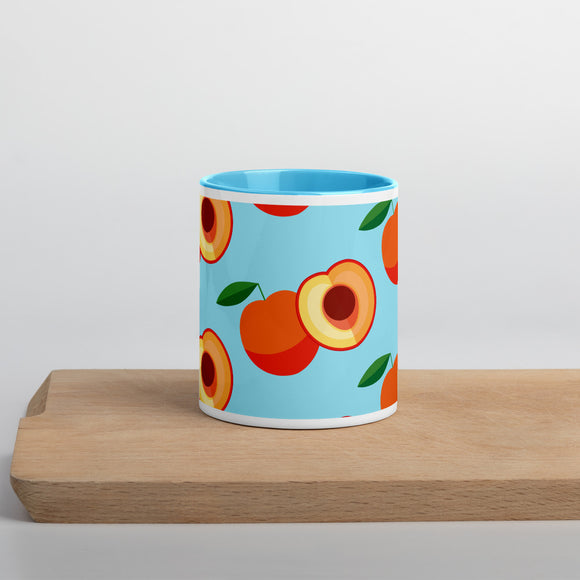 PANZERA™ Signature Line | Fun Fruit Line Peach | Mug with Color Inside | Blue Sky