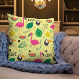 PANZERA™ Signature Line | Flamingo & Toucan | Premium Pillow