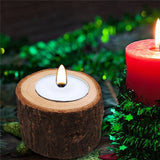 Wooden Candle Holder | Rustic Home Accent