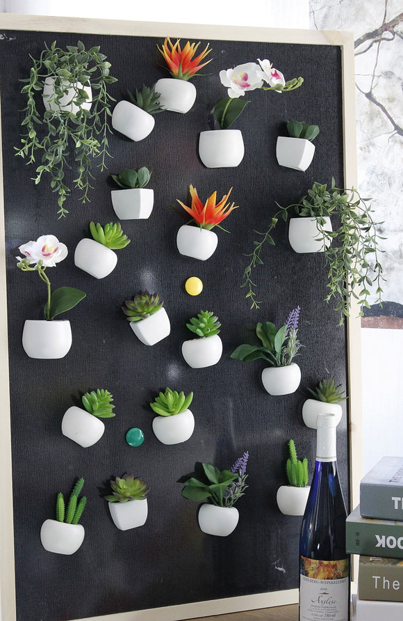 Potted Artificial Green Fridge Magnets