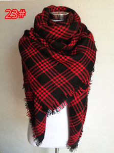 Plush Warm Cashmere Scarf | Winter Accessories