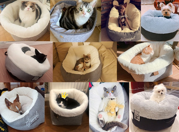 Luxury Plush Warming Dog or Cat Bed | Hyper Soft Material and Cushion