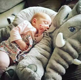 Large Plush Sleeping Elephant for Baby