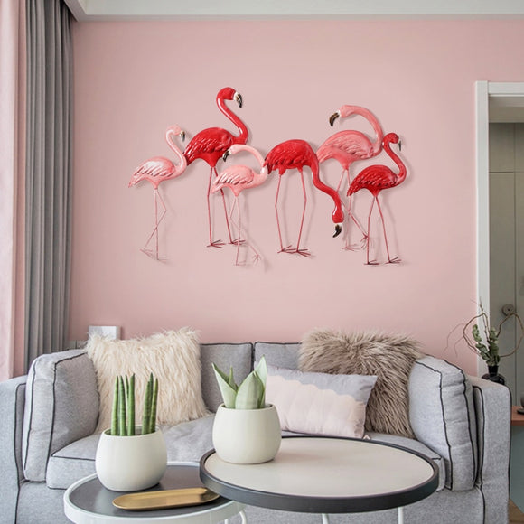 Wrought Iron Wall Hanging Flamingo