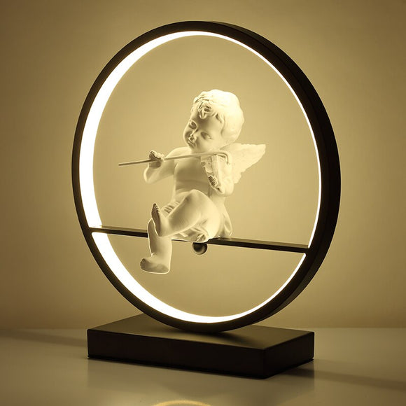 Decorative Angel Table Lamp | Modern LED With Remote Dimming