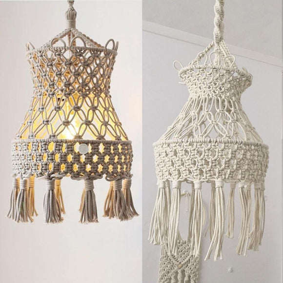 Creative Bohemian Macrame Tapestry | Wall Hanging Hand-woven Chandelier| Lampshade