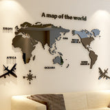 Acrylic World Map | Wall Art | 5 Sizes | 6 Colors