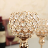 Elegant Metal, Glass, & Crystal Candle Holder Centerpieces
