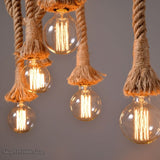 Industrial Hemp Rope Pendant Lights