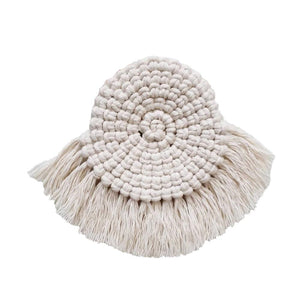 Northern Europe Macrame Cup Pad | Bohemia Handmade Cotton Mats For Kitchen