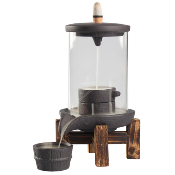 Glass Teahouse Backflow Incense Burner