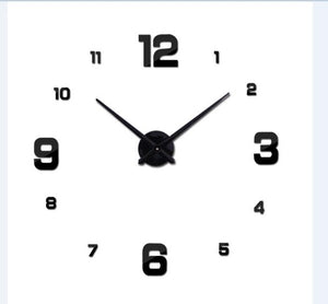 Large & Small Numbers | Extra Large Centerpiece | Wall Clock