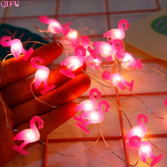 Flamingo Tropical Summer Beach Party String Lights | Complete Party in a Box Supplies Available