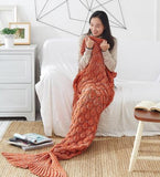 Adult Size Mermaid Tail Blanket