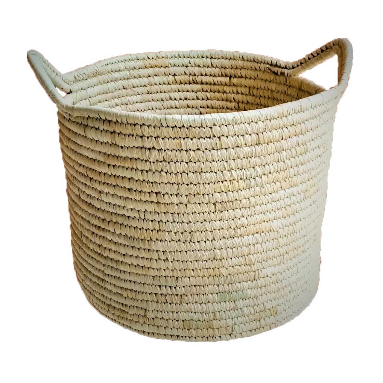 Small Woven Laundry Storage Basket in Natural | KalaGhar